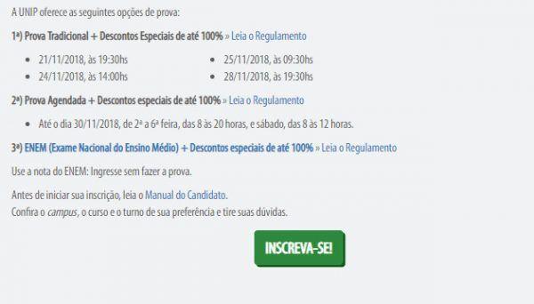 unip enem 600x342 - Vestibular UNIP 2022: Inscrições, Provas, Cursos e Resultados