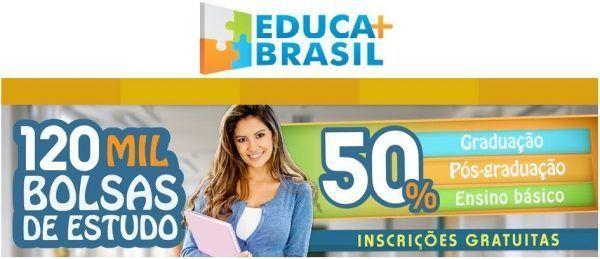 Educa Mais Brasil 2020 bolsas 600x259 - Educa Mais Brasil 2022: Inscrições, Cursos, Bolsas de estudo