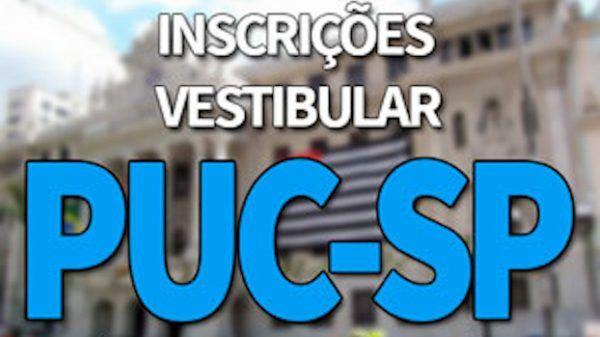 Vestibular PUC 2020 inscrições 600x337 - Vestibular PUC 2022: Inscrições, Data das Provas, Vagas e Resultados