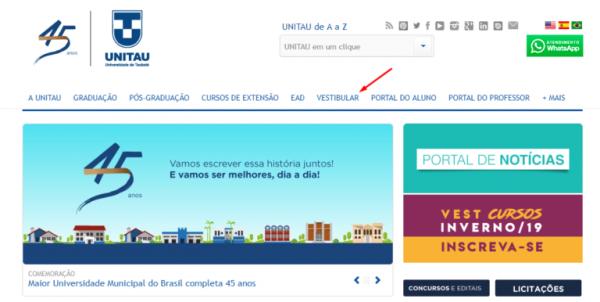 inscrições Vestibular UNITAU 2020 600x302 - Vestibular UNITAU 2022: Inscrições, Provas, Cursos, Resultado