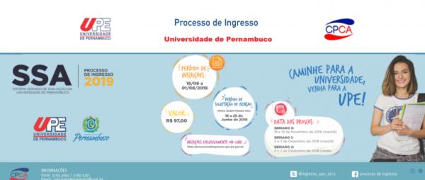 upe inscrições 600x254 - Vestibular UPE 2022: Inscrições, Calendário, Provas, Vagas e Gabarito