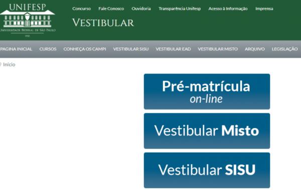 Vestibular UNIFESP 2020 inscrições 600x380 - Vestibular UNIFESP 2022: Inscrições, Provas, Cursos, Resultado