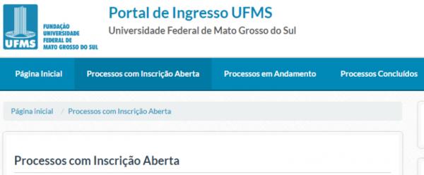 inscrição Vestibular UFMS 2020 600x248 - Vestibular UFMS 2022: Inscrição, Cursos Disponíveis, Edital e Gabarito